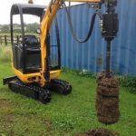 excavator auger 1